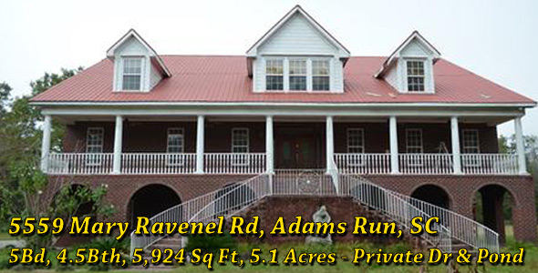 5559 Mary Ravenel Road, Adams Run, SC